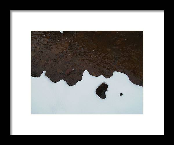 Landscape Framed Print featuring the photograph Notan On Creek by Thor Sigstedt