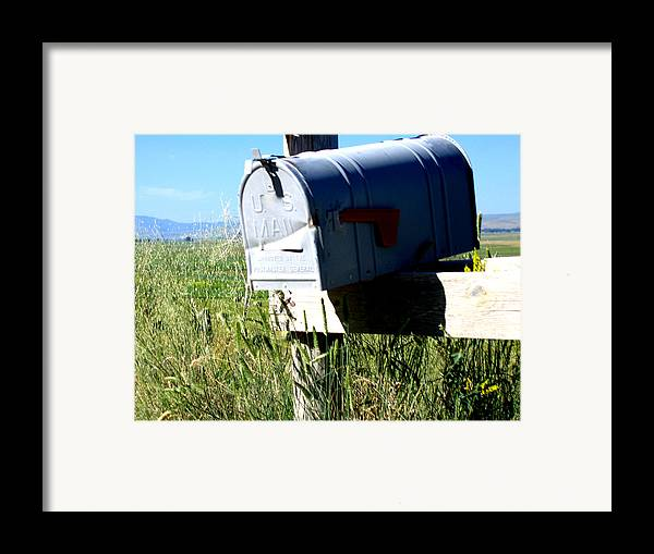 Mailbox Framed Print featuring the photograph Note For You by Diane Wallace