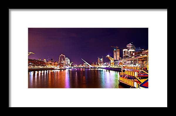 Buenos Framed Print featuring the photograph Nothing But Lights by Francisco Colon