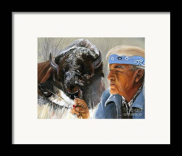 Southwest Art Framed Print featuring the painting Nothing Is Ever Forgotten by J W Baker