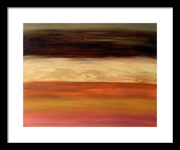 Fine Art Framed Print featuring the painting Nothing More To Prove by Shiree Gilmore