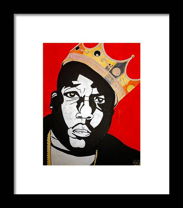 Notorious Big Framed Print featuring the painting Notorious Big by Estelle BRETON-MAYA