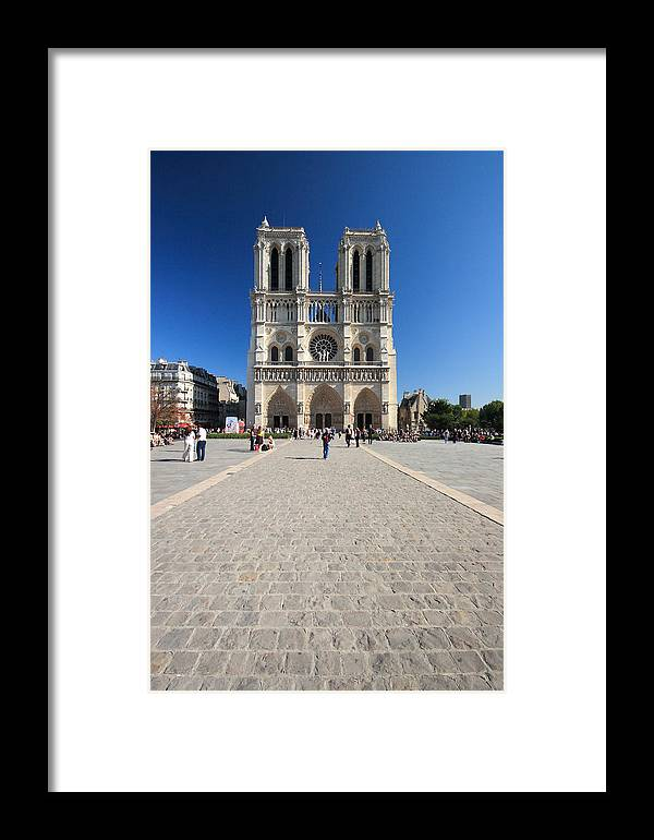 Notre Dame Framed Print featuring the photograph Notre Dame De Paris Cathedral by Pierre Leclerc Photography
