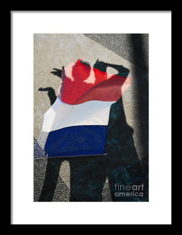 Vive La France. Vive La Paris Framed Print featuring the photograph Nous Sommes Tous Francais by Thomas Carroll