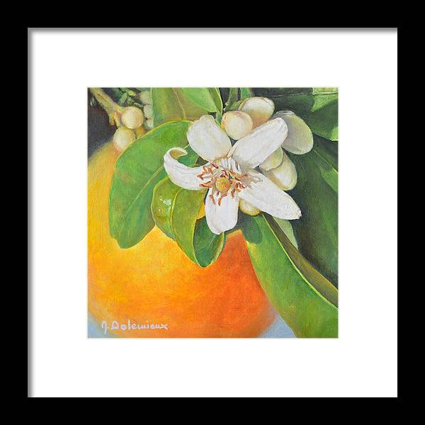 Acrylic Painting Framed Print featuring the painting Nouvelle Orange by Muriel Dolemieux