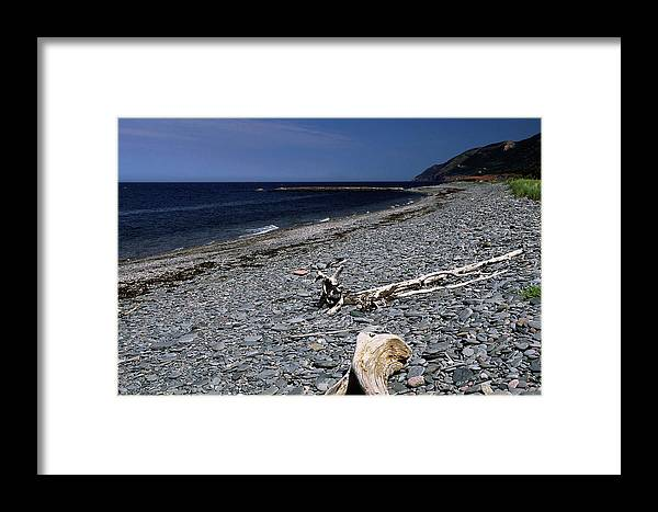 Pebble Beach Framed Print featuring the photograph Nova Scotia Pebble Beach by Sally Weigand