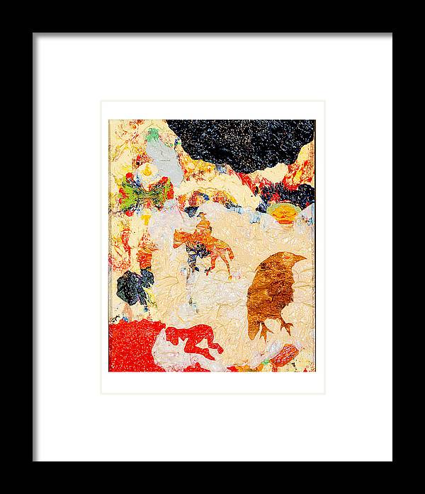 Story Framed Print featuring the painting Novella by Howard Goldberg