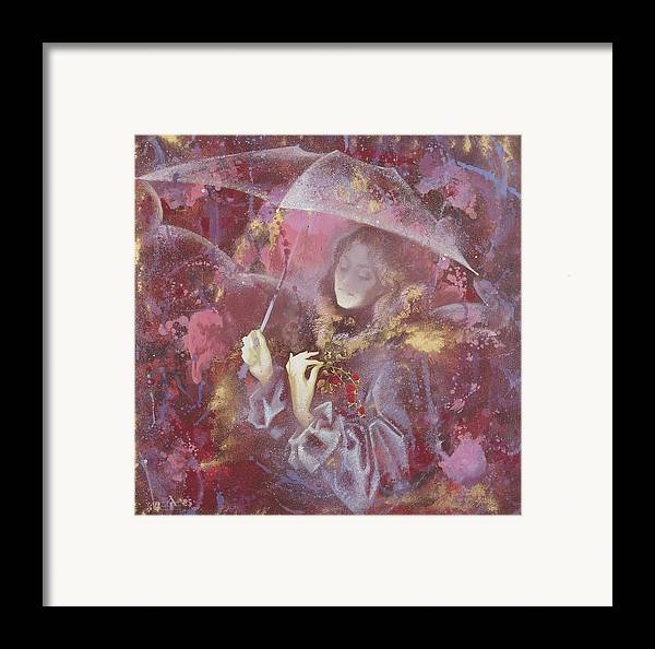 Figures Framed Print featuring the painting November by Andrej Vystropov