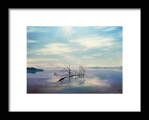 Late Novemeber In Bavaria Framed Print featuring the painting November On A Bavarian Lake by Helmut Rottler
