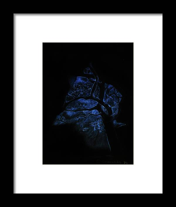 Landscape Framed Print featuring the painting Nocturne by OR Alves Jnr