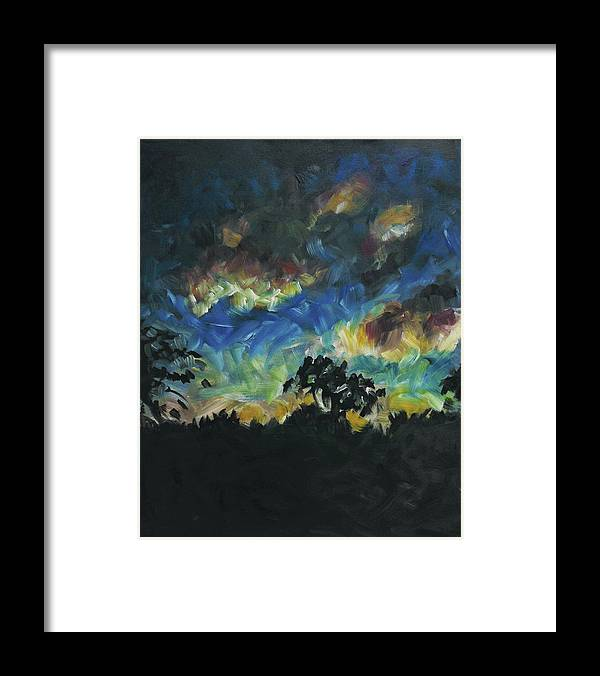Dusk Framed Print featuring the painting Now Dusk by Susan Moore