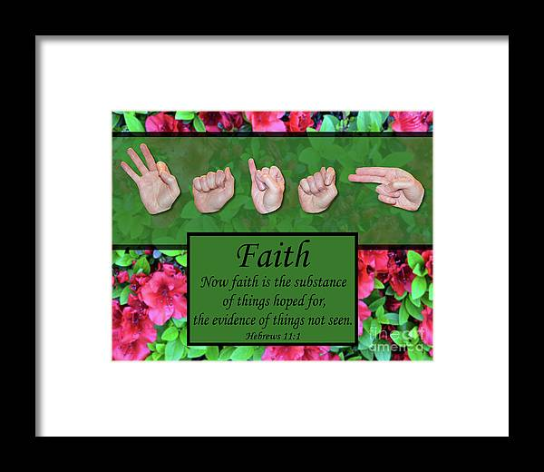 Christian Framed Print featuring the photograph Now Faith by Master's Hand Collection