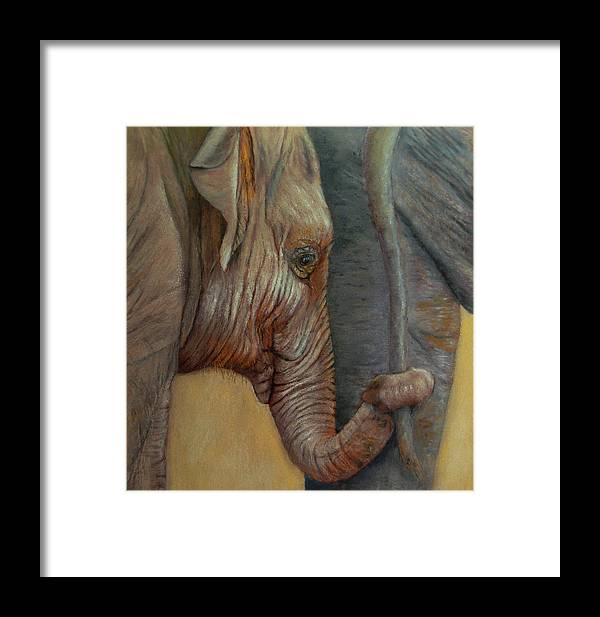 Africa Framed Print featuring the painting Now You Hold On Tight by Ceci Watson
