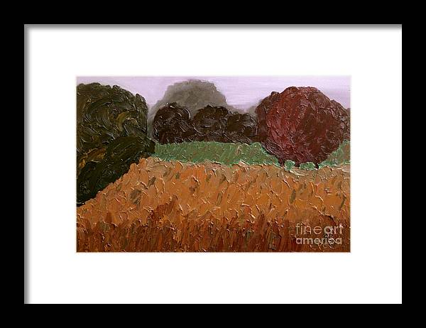 Abstract Framed Print featuring the painting Nowhere Known - Sold by Paul Anderson