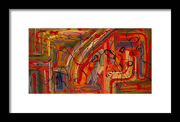 Abstract Framed Print featuring the painting Nowhere To Run by Ben Potter