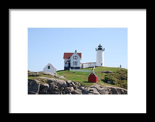 Lighthouse Framed Print featuring the photograph Nubble Light by Armand Hebert
