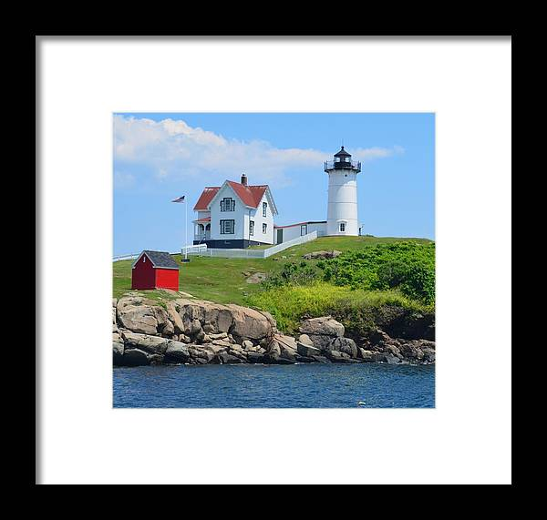 Lighthouse Framed Print featuring the photograph Nubble Lighthouse by Judd Nathan