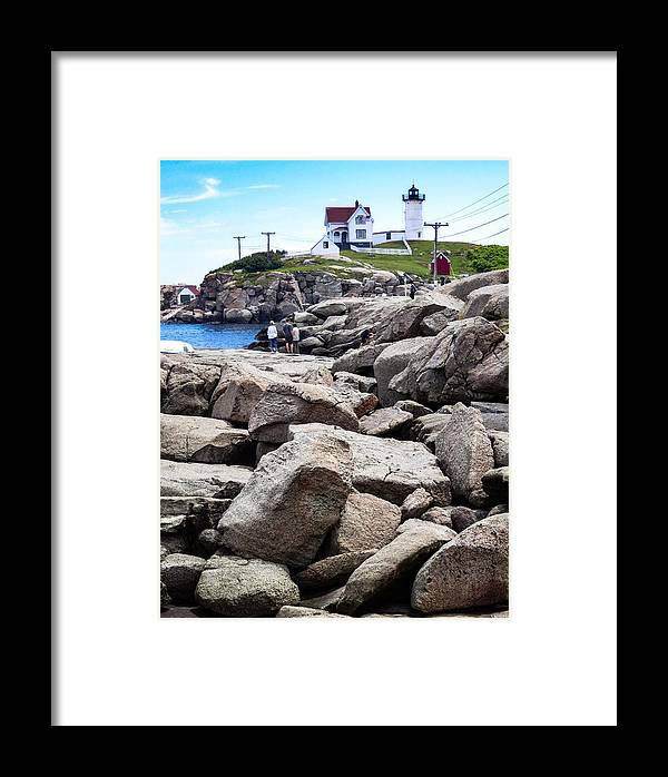 Nubble Lighthouse Framed Print featuring the photograph Nubble Lighthouse by Mark Sellers