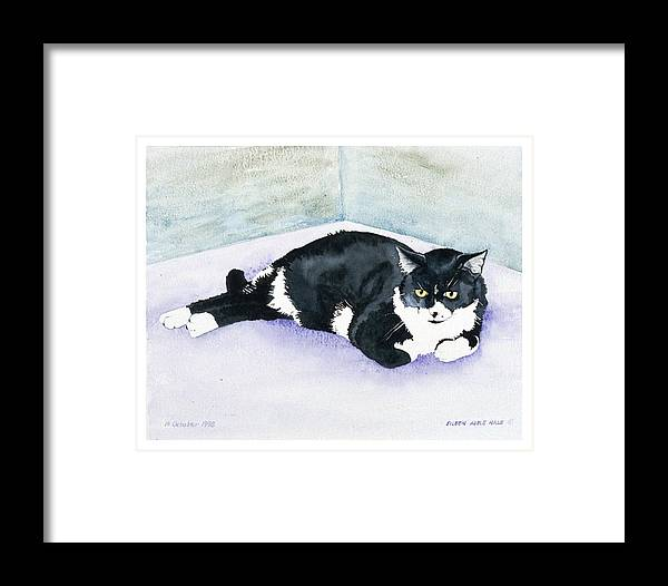 Portrait Framed Print featuring the painting Nubby by Eileen Hale
