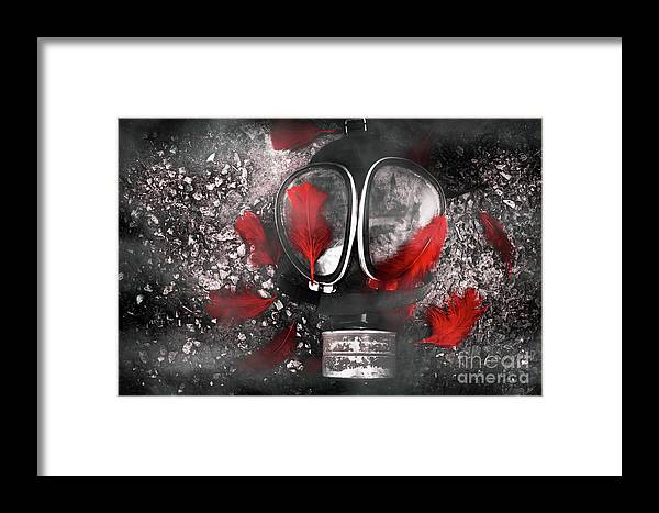 Gasmask Framed Print featuring the photograph Nuclear Smog by Jorgo Photography - Wall Art Gallery