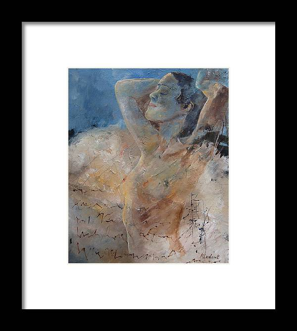 Nude Framed Print featuring the painting Nude 0508 by Pol Ledent