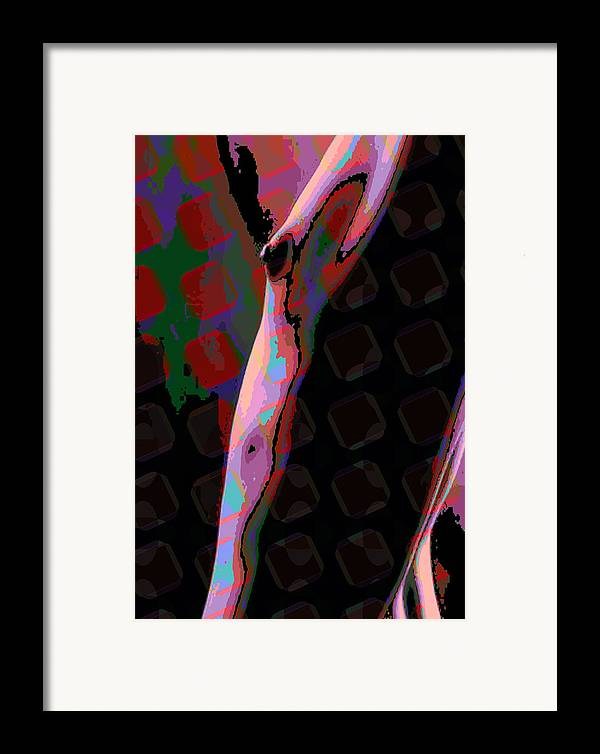 Nude Framed Print featuring the digital art Nude 11 by Scott Davis