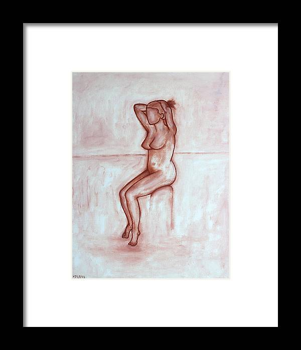 Nude Framed Print featuring the painting Nude 5 by Patrick J Murphy