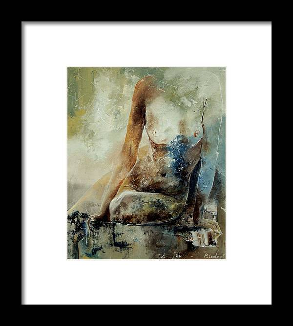 Nude Framed Print featuring the painting Nude 560408 by Pol Ledent