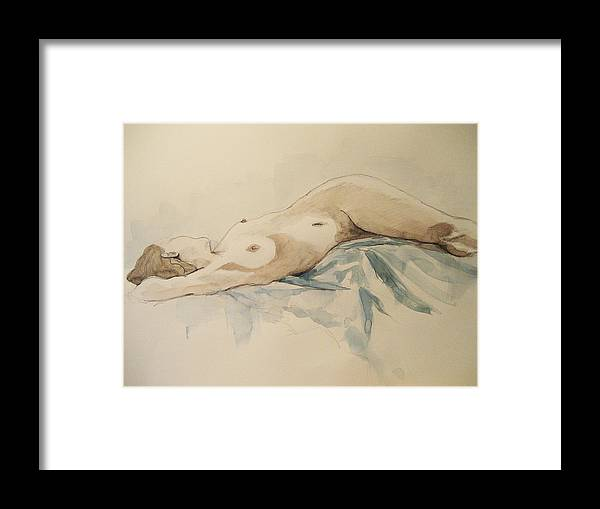 Nude Framed Print featuring the painting Nude 9 by Victoria Heryet