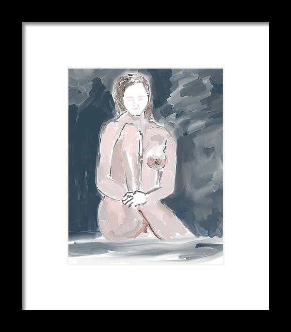Art Framed Print featuring the painting Nude Model 4 by Carlos Camus