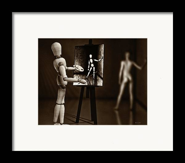 Naked Framed Print featuring the photograph Nude Model by Bob Orsillo