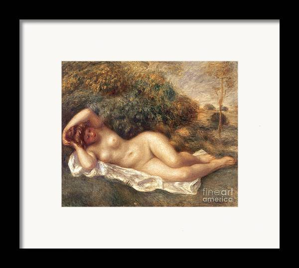 Nude Framed Print featuring the painting Nude by Pierre Auguste Renoir