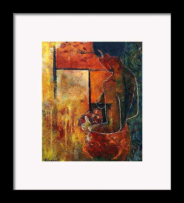 Woman Girl Fashion Nude Framed Print featuring the painting Nude by Pol Ledent