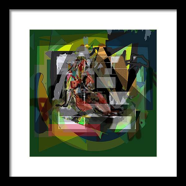 Nude Cubism Abstract Impressionism Framed Print featuring the painting Nude V3 by DC Campbell