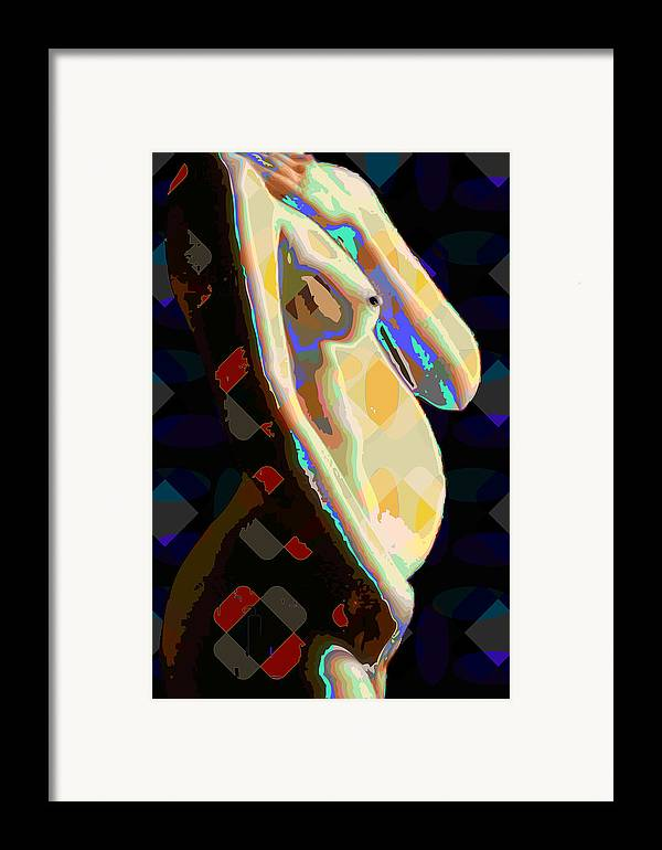 Nude Framed Print featuring the digital art Nude2 by Scott Davis