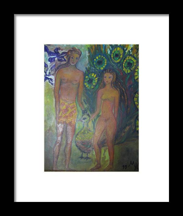 Maria Kolucheva Framed Print featuring the painting Nudes Elation by Maria Kolucheva