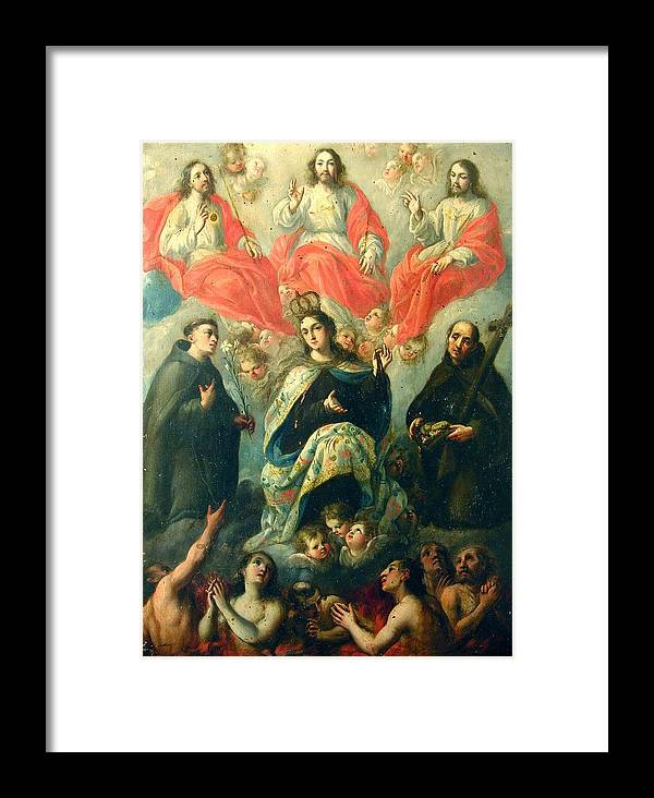 Religious Framed Print featuring the painting Nuestra Senora Del Carmen by Unknown