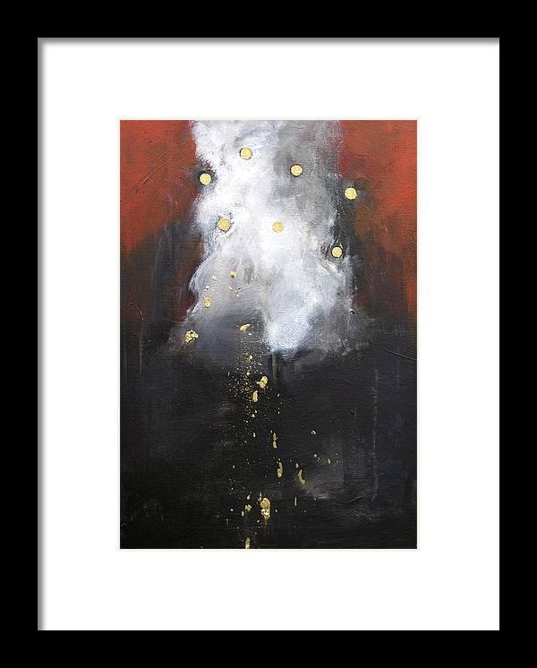 Acrylic Framed Print featuring the painting Nugget Of Gold by Cecilia August Sand