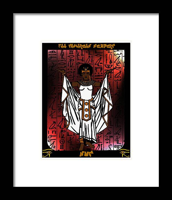 Nuit Framed Print featuring the digital art Nuit by Derrick Colter