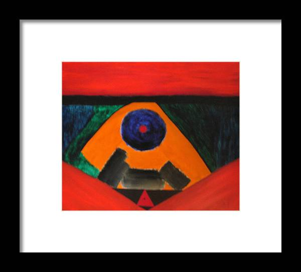 Irregular Forms Framed Print featuring the painting Number 325 by Vijayan Kannampilly