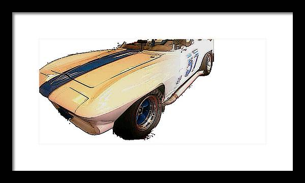 Car. Racing Framed Print featuring the photograph Number 57 by Erika Brown
