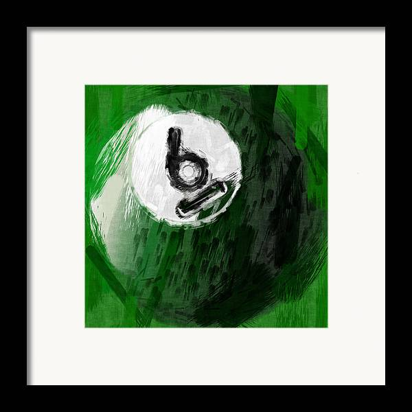 Six Framed Print featuring the photograph Number Six Billiards Ball Abstract by David G Paul