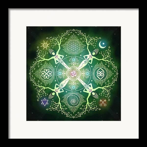 Mandala Framed Print featuring the digital art Numinosity Mandala by Cristina McAllister
