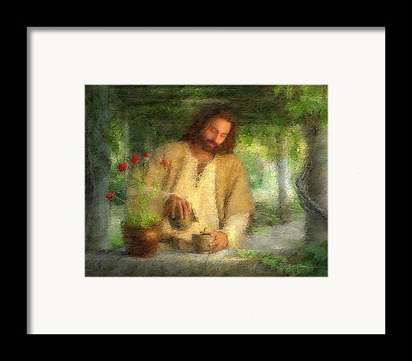 Jesus Framed Print featuring the painting Nurtured By The Word by Greg Olsen