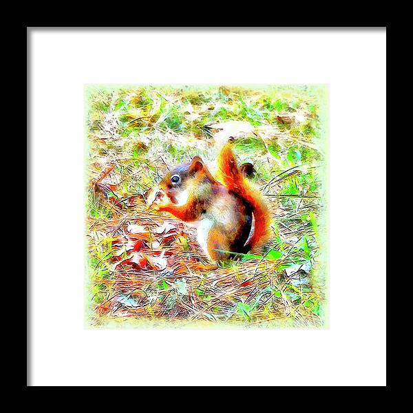 Nut Framed Print featuring the digital art Nut N Honey by Leslie Montgomery