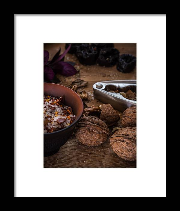 Food Framed Print featuring the photograph Nuts And Spices Series - Five Of Six by Kaleidoscopik Photography