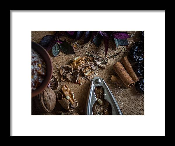 Food Framed Print featuring the photograph Nuts And Spices Series - Four Of Six by Kaleidoscopik Photography