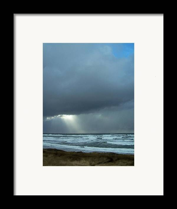 Beach Framed Print featuring the photograph N.w. Beach Rays by Gene Ritchhart