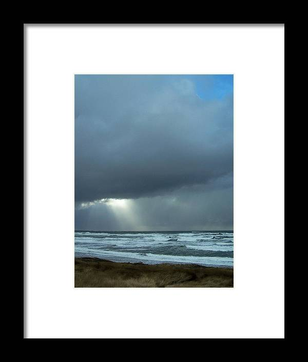Beach Framed Print featuring the photograph N.w. Beach Rays by Gene Ritchhart