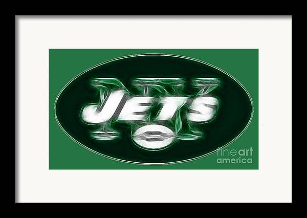 Ny Jets Logo Framed Print featuring the photograph Ny Jets Fantasy by Paul Ward